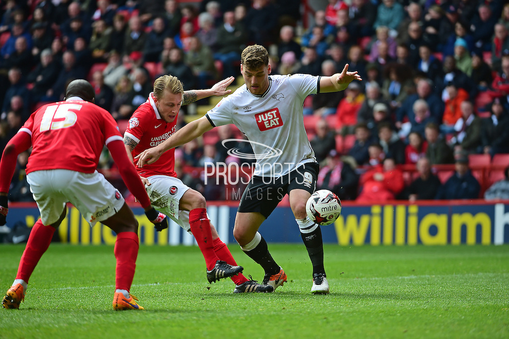 Derby County midfielder Chris Martin during the Sky Bet Championship match between Charlton Athletic and Derby County at The Valley, London, England on 16 April 2016. Photo by Jon Bromley.