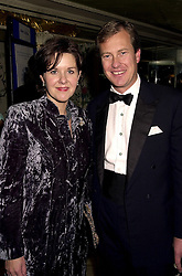 LORD & LADY IVAR MOUNTBATTEN at a ball in London on 30th October 2000.<br /> OIL 36