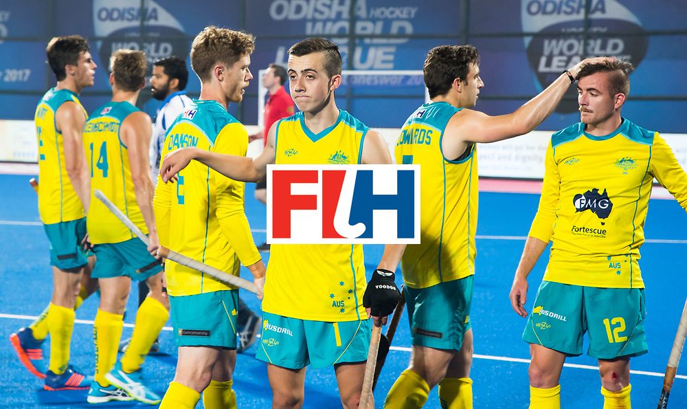 BHUBANESWAR - The Odisha Men's Hockey World League Final . Match ID 05 . Germany  v Australia . Junior player of the match, Lachlan Sharp (Aus)   WORLDSPORTPICS COPYRIGHT  KOEN SUYK