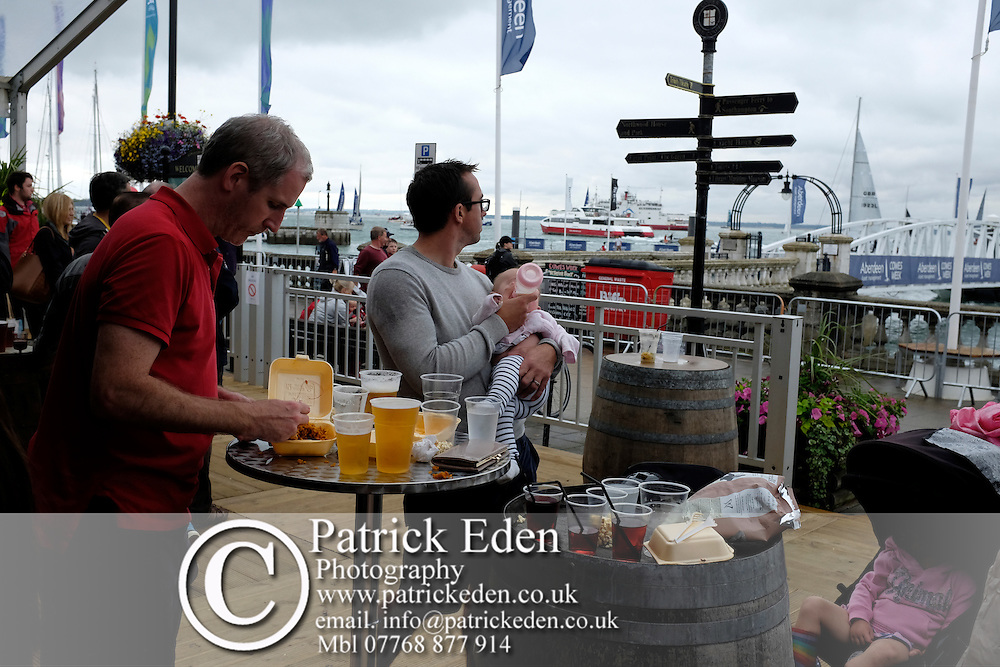 Scenes of yacht racing and around the town, pubs, clubs and Yacht Haven, Cowes Week, 2015, Isle of Wight, England,