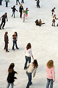 ice skating ring at Rockefeller center in New York City