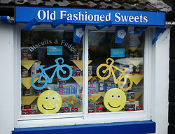 April 28, 2017 - Goathland, North Yorkshire, England - (c Goathland, UK..Goathland prepares for the Tour de Yorkshire cycling race to pass through on Stage 1 of the three stage race. (Credit Image: © Ian Forsyth/London News Pictures via ZUMA Wire)