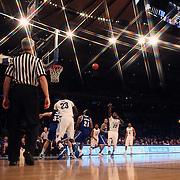 JayVaughn Pinkson, Villanova, shoots during the Villanova Wildcats Vs Seton Hall Pirates basketball game during the Big East Conference Tournament at Madison Square Garden, New York, USA. 12th March 2014. Photo Tim Clayton
