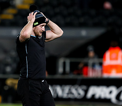 2nd November, Liberty Stadium , Swansea, Wales ; Guinness pro 14's Ospreys Rugby v Glasgow Warriors ;  Stuart Hogg of Glasgow Warriors during the pre match warm up<br /> <br /> Credit: Simon King/News Images<br /> <br /> Photographer Simon King/Replay Images<br /> <br /> Guinness PRO14 Round 8 - Ospreys v Glasgow Warriors - Friday 2nd November 2018 - Liberty Stadium - Swansea<br /> <br /> World Copyright © Replay Images . All rights reserved. info@replayimages.co.uk - http://replayimages.co.uk