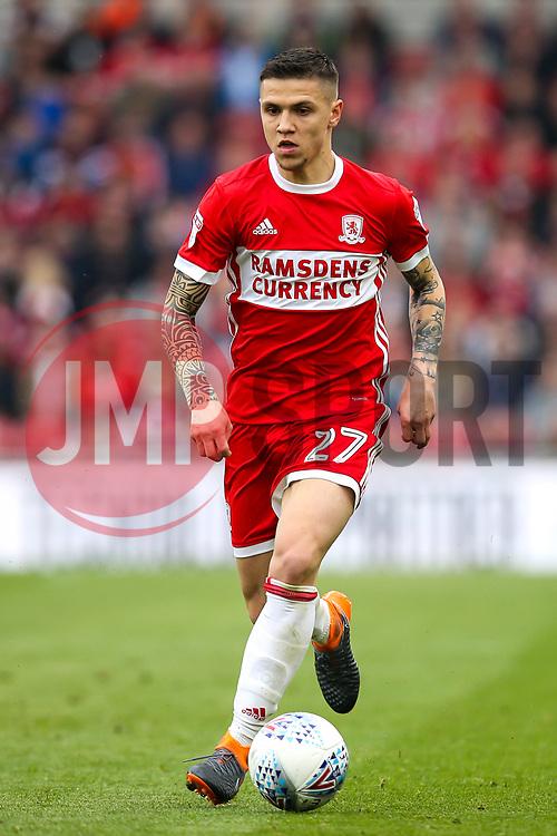 Muhamed Besic of Middlesbrough - Mandatory by-line: Robbie Stephenson/JMP - 12/05/2018 - FOOTBALL - Riverside Stadium - Middlesbrough, England - Middlesbrough v Aston Villa - Sky Bet Championship