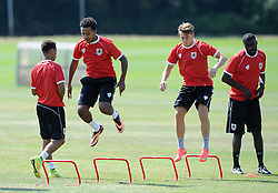 - Photo mandatory by-line: Dan Rowley/JMP - Tel: Mobile: 07966 386802 24/07/2013 - SPORT - FOOTBALL - Bristol -  Bristol City V Reading<br /> New signings Korey Smith and Luke Freeman during Bristol City's first pre-season training session.