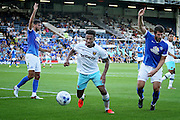 West Ham no 9 Sam Ford during the Pre-Season Friendly match between Peterborough United and West Ham United at London Road, Peterborough, England on 19 July 2016. Photo by Nigel Cole.