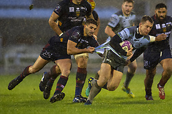 December 8, 2018 - Galway, Ireland - Matt Healy of Connacht tackled by Sadek Deghmache of Perpignan during the European Rugby Challenge Cup between Connacht Rugby and Parpignan at the Sportsground in Galway, Ireland on December 8, 2018  (Credit Image: © Andrew Surma/NurPhoto via ZUMA Press)