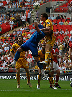 Photo: Steve Bond/Richard Lane Photography. <br />Ebbsfleet United v Torquay United. The FA Carlsberg Trophy Final. 10/05/2008. Keeper Lance Cronin is fouled by Chris Todd