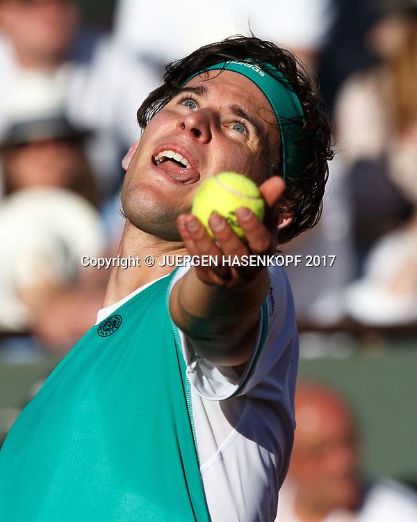 DOMINIC THIEM (AUT)<br /> <br /> Tennis - French Open 2017 - Grand Slam / ATP / WTA / ITF -  Roland Garros - Paris -  - France  - 9 June 2017.