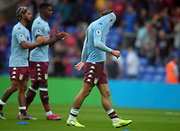 Football - 2019 / 2020 Premier League - Crystal Palace vs. Aston Villa<br /> <br /> A distraught  Jack Grealish of Villa after his goal was disallowed, covers his face after the match at Selhurst Park.<br /> <br /> COLORSPORT/ANDREW COWIE