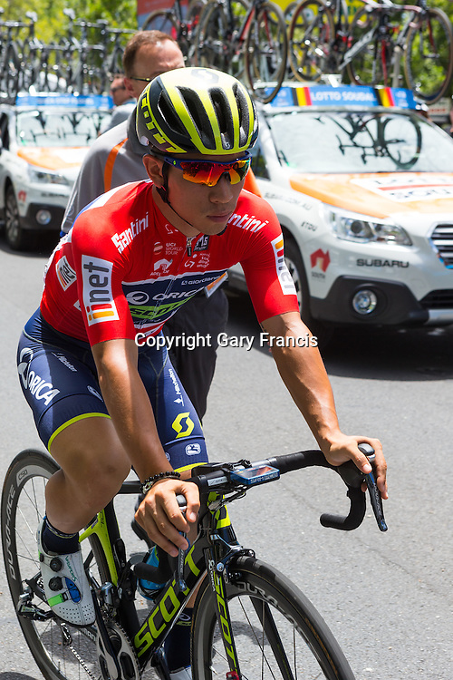 Caleb Ewan, Orica Scott, at the start of Stage 6 of the Tour Down Under, Australia on the 22 of January 2017 ( Credit Image: © Gary Francis / ZUMA WIRE SERVICE )
