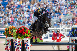 LOPEZ LIZARZO Carlos Enrique (COL), Admara<br /> Tryon - FEI World Equestrian Games™ 2018<br /> FEI World Individual Jumping Championship<br /> Third cometition - Round B<br /> 3. Qualifikation Einzelentscheidung 1. Runde<br /> 23. September 2018<br /> © www.sportfotos-lafrentz.de/Stefan Lafrentz