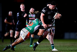 Guinness PRO14, Rodney Parade, Newport, UK 06/03/2020<br /> Dragons vs Benetton Rugby<br /> Josh Reynolds of Dragons is challenged by Charly Trussardi of Benetton Rugby<br /> Mandatory Credit ©INPHO/Ryan Hiscott