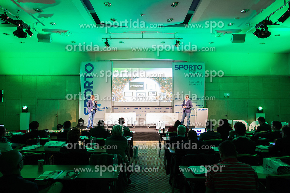 Mark Versteegen and Koos Onderwater (KPN) during Sports marketing and sponsorship conference Sporto 2015, on November 19, 2015 in Hotel Slovenija, Congress centre, Portoroz / Portorose, Slovenia. Photo by Vid Ponikvar / Sportida