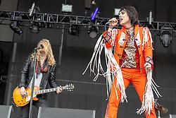May 25, 2018 - Napa, California, U.S - ADAM SLACK and LUKE SPILLER of The Struts during BottleRock Music Festival at Napa Valley Expo in Napa, California (Credit Image: © Daniel DeSlover via ZUMA Wire)