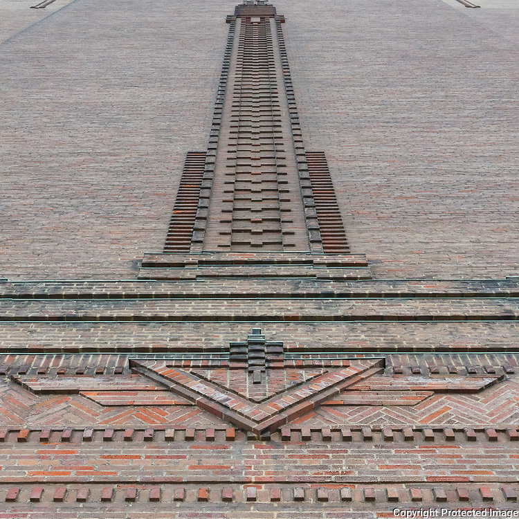 Mersey Tunnel Art Deco ventilation tower, Birkenhead, Merseyside.