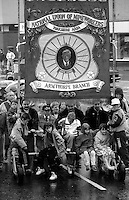 Armthorpe Branch banner. 1991 Yorkshire Miners Gala. Doncaster.