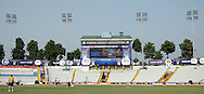 General view of the stadium and branding during the Qualifier match 1 of the Karbonn Smart Champions League T20 (CLT20) between Otago Volts and the Faisalabad Wolves held at the Punjab Cricket Association Stadium, Mohali on the 17th September 2013. Photo by Jacques Rossouw/CLT20/SPORTZPICS<br /> <br /> <br /> Use of this image is subject to the terms and conditions as outlined by the CLT20. These terms can be found by following this link:<br /> <br /> http://sportzpics.photoshelter.com/image/I0000NmDchxxGVv4<br /> <br /> ENTER YOUR EMAIL ADDRESS TO DOWNLOAD