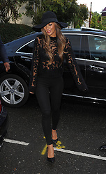 Nicole Scherzinger arriving at the Riverside Studios for Celebrity Juice. London, UK. 16/10/2013<br />