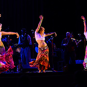 """The """"leggy dancin' dames"""" of Vaud and the Villains perform at The Music Hall in Portsmouth, NH. July 2012."""