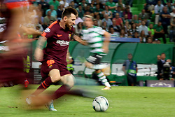 September 27, 2017 - Lisbon, Portugal - Barcelona's Argentine forward Lionel Messi in action during the UEFA Champions League football match Sporting vs Barcelona at the Alvalade stadium in Lisbon, Portugal on September 27, 2017. Photo: Pedro Fiuza  (Credit Image: © Pedro Fiuza/NurPhoto via ZUMA Press)