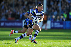 George Ford of Bath Rugby goes on the attack - Photo mandatory by-line: Patrick Khachfe/JMP - Mobile: 07966 386802 25/10/2014 - SPORT - RUGBY UNION - Bath - The Recreation Ground - Bath Rugby v Toulouse - European Rugby Champions Cup