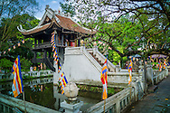 One Pillar Pagoda (Chua Cot Mot) in Hanoi, Vietnam, Southeast Asia