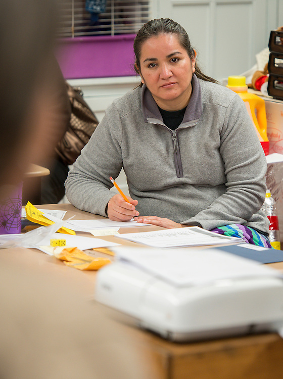 Academic Parent Teacher Teams (APTT) meet  at Wharton Elementary School, January 29, 2014.