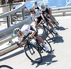 19.04.2018, Lienz, AUT, Tour of the Alps, Österreich, 4. Etappe, von Klausen nach Lienz (134,3 km), im Bild v.l. Kenny Elissonde (FRA, Team Sky), Sebastian Henao (ESP, Team Sky), Christopher Froome (GBR, Team Sky) // f.l. Kenny Elissonde of France Team Sky Sebastian Henao of Spain Team Sky Christopher Froome of Great Britain Team Sky during 4th stage from Klausen to Lienz of 2018 Tour of the Alps in Lienz, Austria on 2018/04/19. Lienz, Austria on 2018/04/19. EXPA Pictures © 2018, PhotoCredit: EXPA/ Reinhard Eisenbauer