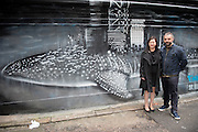 """Walls of Change"" street art in Hong Kong painted ahead of the The ""Hope for Wildlife"" Gala Dinner to raise awareness for the plight of endangered animals the world over.Sai Yin Pun Hong Kong<br /> 10th November 2016. Photo by Jayne Russell"