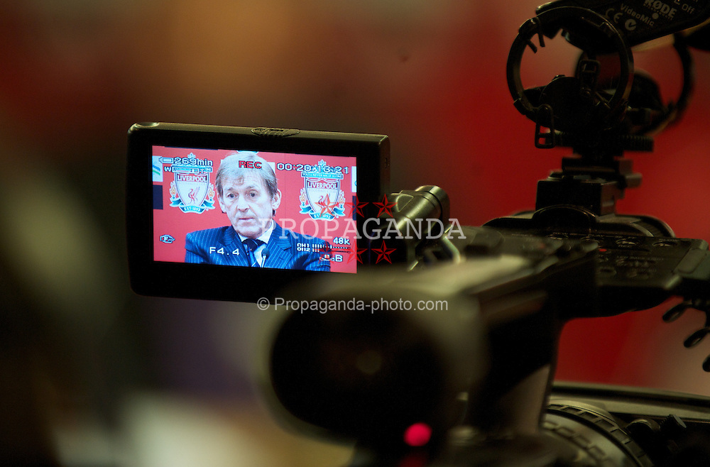 LIVERPOOL, ENGLAND - Thursday, February 3, 2011: Liverpool's manager Kenny Dalglish during a photo-call at Anfield. (Photo by David Rawcliffe/Propaganda)