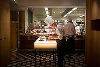 Vienna, Austria- November 21, 2014: Chefs plating meals in the kitchen of Steirereck in Vienna. CREDIT: Chris Carmichael for The New York Times