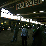 The Nairobi train station.