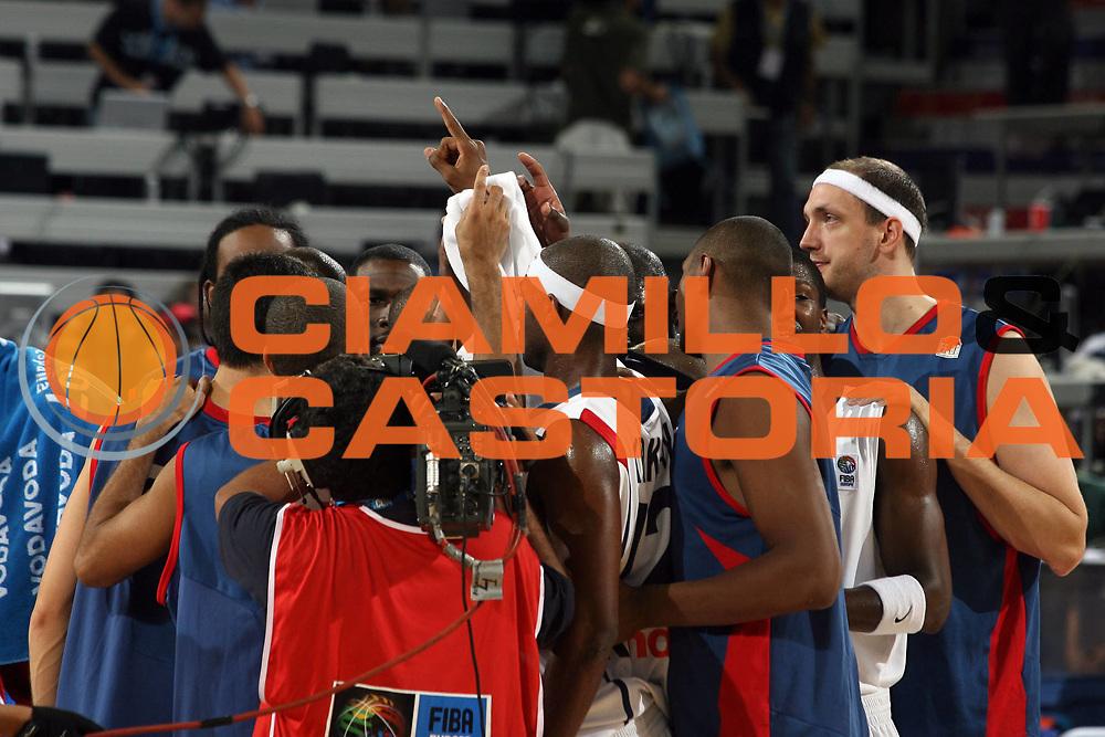 DESCRIZIONE : Madrid Spagna Spain Eurobasket Men 2007 Qualifying Round Francia Turchia France Turkey <br /> GIOCATORE : Team Francia Team France<br /> SQUADRA : Francia France <br /> EVENTO : Eurobasket Men 2007 Campionati Europei Uomini 2007 <br /> GARA : Francia Turchia France Turkey <br /> DATA : 12/09/2007 <br /> CATEGORIA : Esultanza <br /> SPORT : Pallacanestro <br /> AUTORE : Ciamillo&amp;Castoria/A.Vlachos <br /> Galleria : Eurobasket Men 2007 <br /> Fotonotizia : Madrid Spagna Spain Eurobasket Men 2007 Qualifying Round Francia Turchia France Turkey <br /> Predefinita :