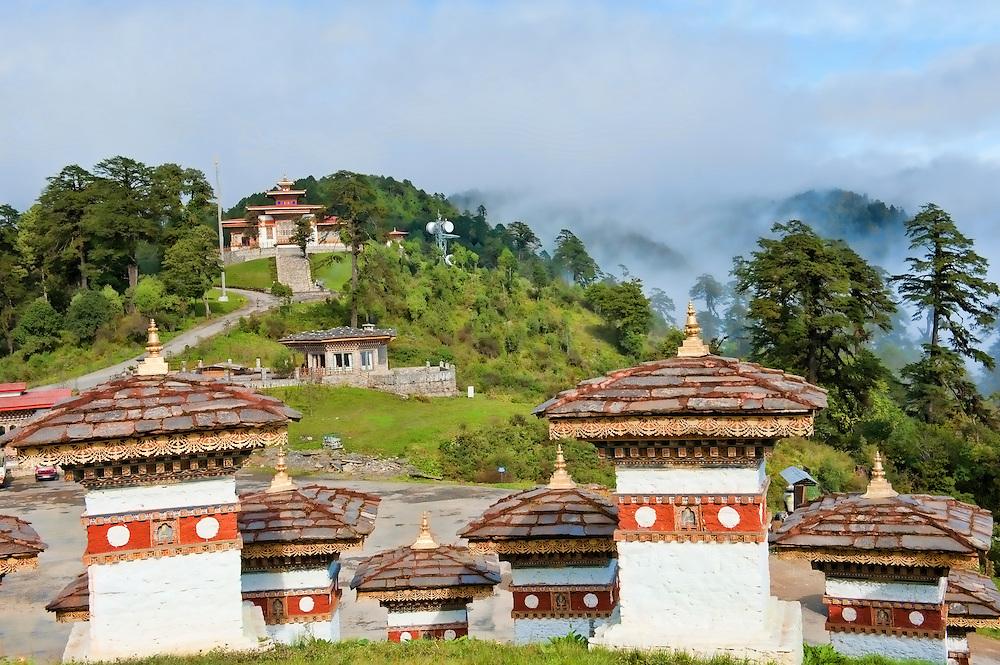 Asia, Tibet, Bhutan, Dochu, Pass, Mountain, Mountains, Chorten