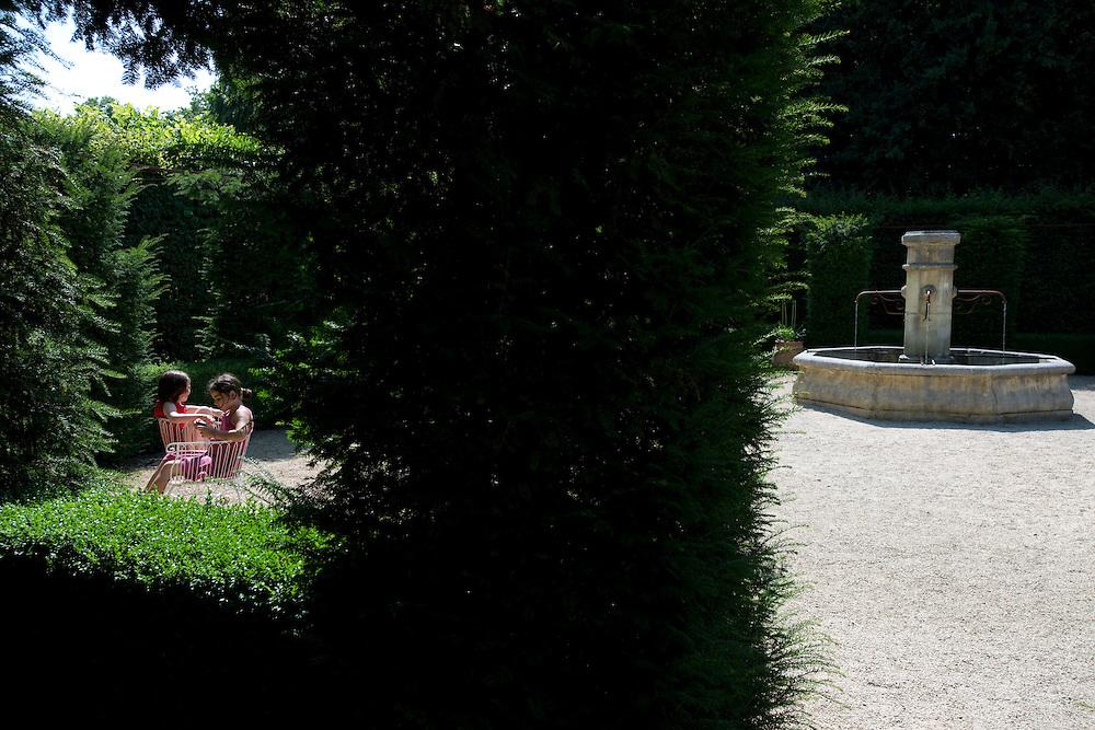 Les jardins du Pays d'Auge, un des plus beaux jardins de France.<br /> Cambremer, France. 19/07/2013.