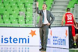 Dejan Mihevc, head coach of KK Tajfun during basketball match between KK Union Olimpija Ljubljana and KK Tajfun in 22th Round of ABA League 2015/16, on January 30, 2016 in Arena Stozice, Ljubljana, Slovenia. Photo by Urban Urbanc / Sportida