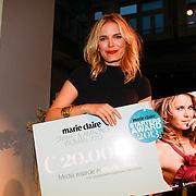 NLD/Amsterdam/20131014 -  Marie Claire Starters Award 2013, Hanna Verboom bekroond met de titel Smart & Amazing Entrepreneur 2013.