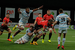 April 8, 2018 - Nanterre, Hauts de Seine, France - RC Toulon Lock SAMUELA VAINGA MANOA in action during the French rugby championship Top 14 match between Racing 92 and RC Toulon at U Arena Stadium in Nanterre - France..Racing 92 Won  17-13. (Credit Image: © Pierre Stevenin via ZUMA Wire)