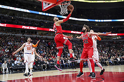 December 27, 2017 - Chicago, IL, USA - The Chicago Bulls' Denzel Valentine (45) goes up for a basket during the first half against the New York Knicks at the United Center in Chicago on Wednesday, Dec. 27, 2017. (Credit Image: © Armando L. Sanchez/TNS via ZUMA Wire)