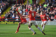 Sheffield United midfielder Ryan Flynn (7) scores goal from overhead kick to go 2-0 up  during the Sky Bet League 1 match between Sheffield Utd and Crewe Alexandra at Bramall Lane, Sheffield, England on 25 March 2016. Photo by Ian Lyall.