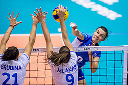 23-08-2017 NED: World Qualifications Greece - Slovenia, Rotterdam<br /> Sloveni&euml; wint met 3-0 / Alkistis Karafoulidou #8 of Greece