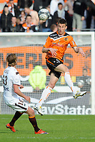 FOOTBALL - FRENCH CHAMPIONSHIP 2009/2010 - L1 - FC LORIENT v GIRONDINS BORDEAUX - 24/04/2010 - PHOTO PASCAL ALLEE / DPPI - LAURENT KOSCIELNY (FCL) / JAROSLAV PLASIL (BOR)