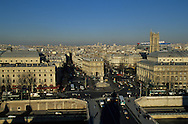 France. Paris. elevated view. Seine river, city hall, Chatelet theater, Saint Jacques Tower . view from the Conciergerie Bell tower