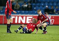 Fotball, 28. april 2004, Privatlandskamp, Norge-Russland 3-2, Morten Gamst Pedersen og John Arne Rise, Norge