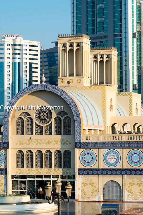 Central Souk or the Blue Souk in Sharjah in United Arab Emirates