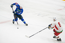Miha Stebih during Ice Hockey match between National teams of Slovenia and Belarus at International tournament Euro ice hockey Challenge 2019, on February 9, 2019 in Ice Arena Bled, Slovenia. Photo by Peter Podobnik / Sportida