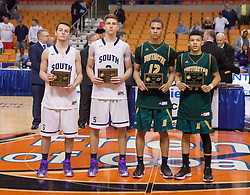 The AAA all tournament team pose for a picture after the conclusion of the AAA game in Charleston.