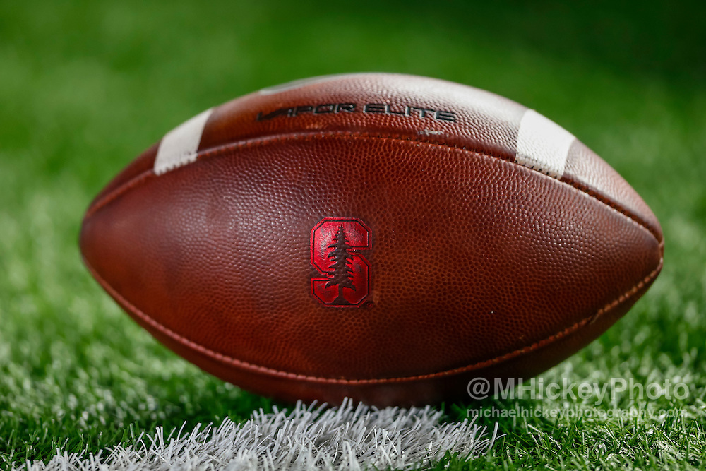SOUTH BEND, IN - OCTOBER 15: A Stanford Cardinal football is seen during the game against the Notre Dame Fighting Irish at Notre Dame Stadium on October 15, 2016 in South Bend, Indiana. Stanford defeated Notre Dame 17-10. (Photo by Michael Hickey/Getty Images)